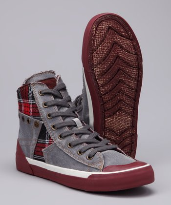 Light Gray Tabloid Kiss Hi-Top Sneaker