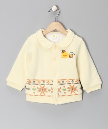Cloud Yellow Cross-Stitch Jacket - Infant & Toddler