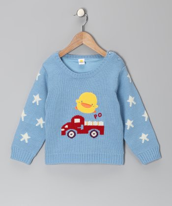 Baby Blue Star Sweater - Toddler