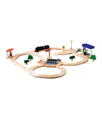 Turntable City Road & Rail Set