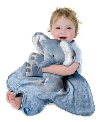 Blue Large Elephant Cuddle Buddy