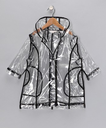 Black Transparent Raincoat - Infant, Toddler & Kids