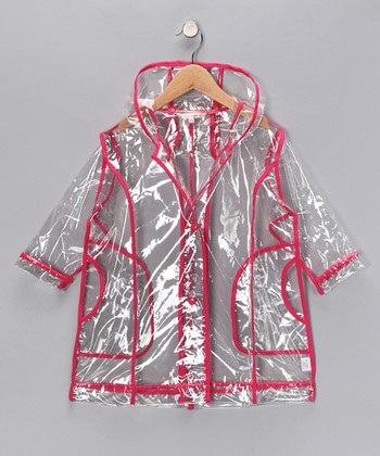 Fuchsia Transparent Raincoat - Infant, Toddler & Girls