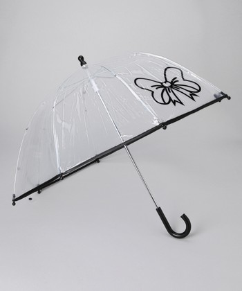 Black Transparent Bow Umbrella