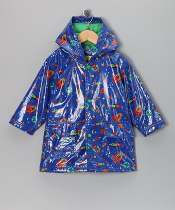 Blue Rocket Fleece-Lined Raincoat - Infant, Toddler & Kids