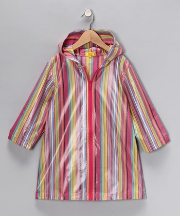 Pink Stripe Raincoat - Infant, Toddler & Girls