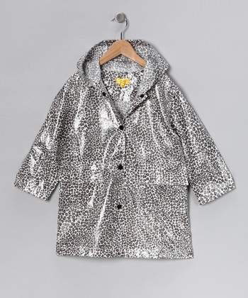 Gray Leopard Raincoat - Infant, Toddler & Girls