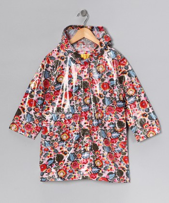 Red Flower Raincoat - Infant, Toddler & Kids