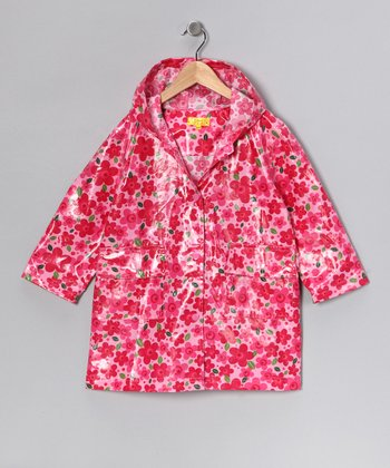 Pink Floral Raincoat - Infant, Toddler & Kids