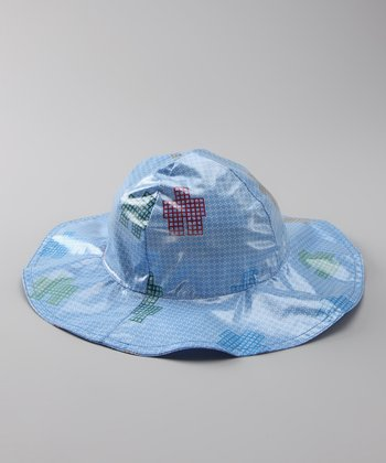 Blue Robot Rain Hat