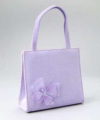 Lavender Butterfly Purse