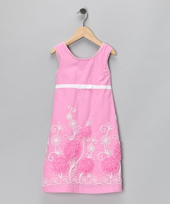 Carnation Bed of Roses Dress - Girls