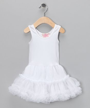 White Parfait Twirly Dress - Infant, Toddler & Girls