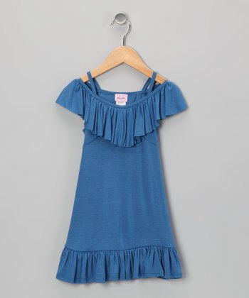 Royal Ruffle Dress - Girls