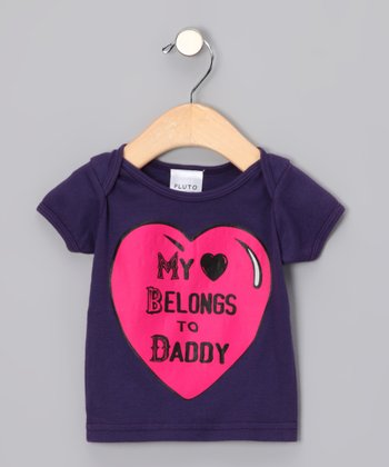 Purple 'My Heart Belongs to Daddy' Tee - Infant