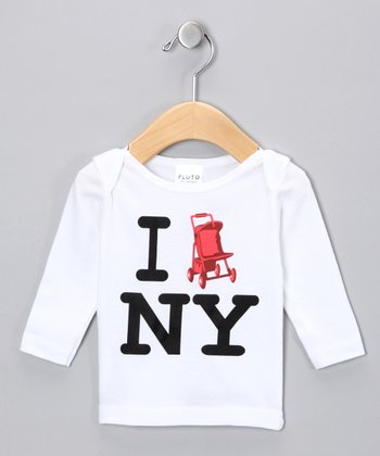 White I Stroll NY Long-Sleeve Tee - Infant & Toddler