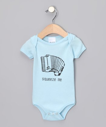 Blue 'Squeeze Me' Bodysuit - Infant