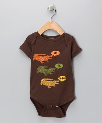 Brown 'See Ya Later' Bodysuit - Infant