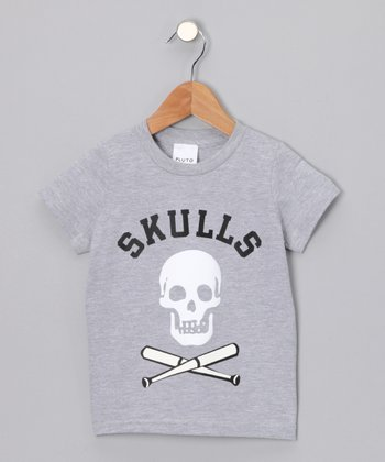 Gray 'Skulls' Tee - Infant & Toddler