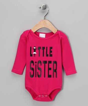 Fuchsia 'Little Sister' Bodysuit - Infant