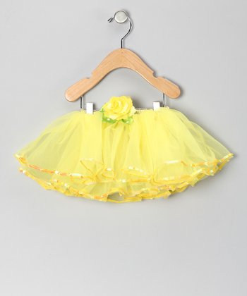 Yellow Sequin Rose Tutu
