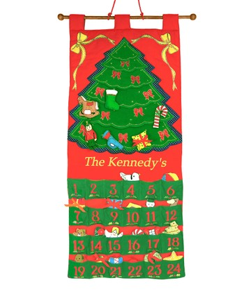 Tree Personalized Advent Calendar Set