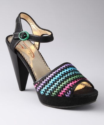 Black Giggly Sandal