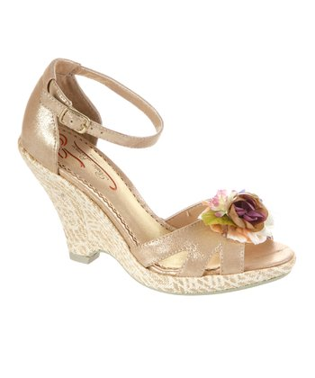 Gold True Romance Wedge