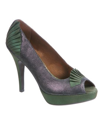 Bronze Egyptian Princess Peep-Toe Pump