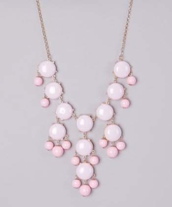 Light Pink Bubble Long Necklace