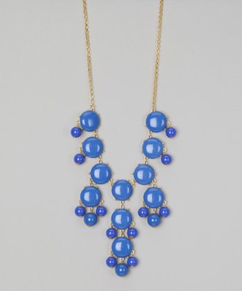 Lapis Blue Bubble Long Necklace