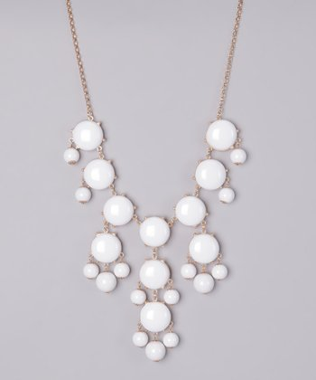 White Bubble Long Necklace