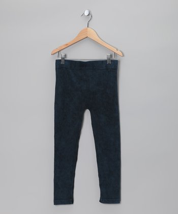 Denim Blue Distressed Jeggings
