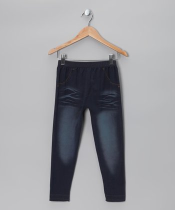Poof! Denim Blue Whisker Jeggings
