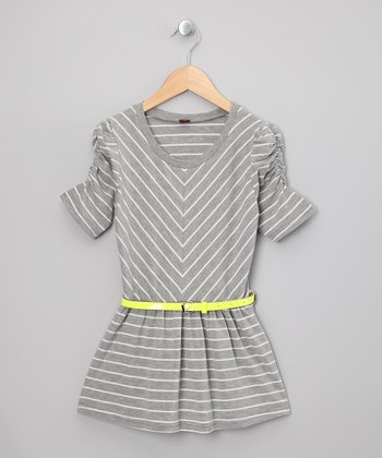 Gray & White Stripe Dress