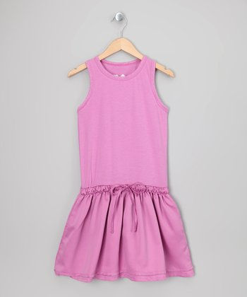 Pink Sherbet Drawstring Waist Dress