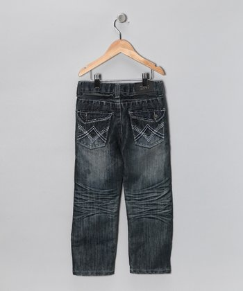 Blue Stud Flap Pocket Jeans - Toddler & Boys