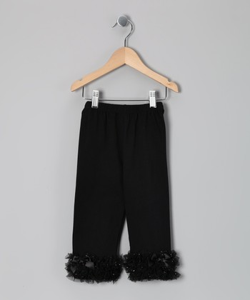 Black Ruffle Leggings - Infant, Toddler & Girls