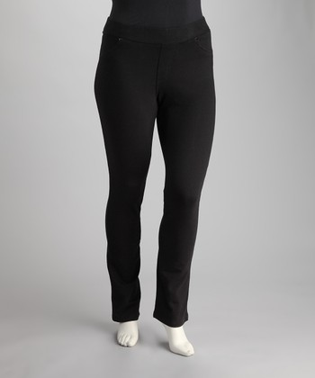 Black Straight-Leg Jeggings - Plus