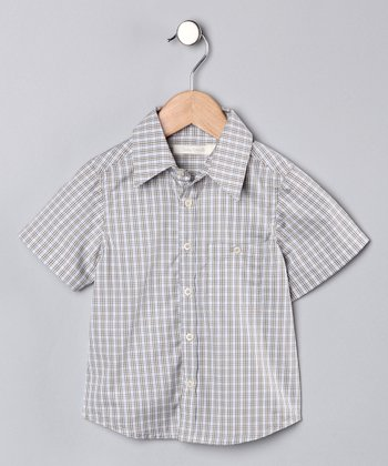 Troy Plaid Freddie Button-Up - Boys