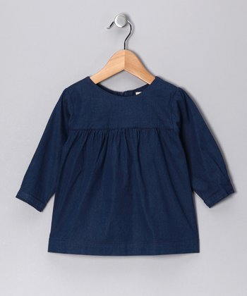 Denim Blue Honey Dress - Girls