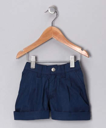 Denim Blue Halina Shorts - Kids