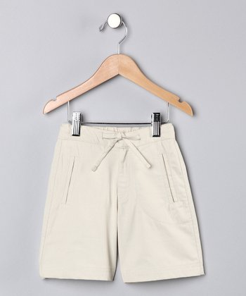 Oatmeal Bjarke Organic Shorts - Toddler & Kids