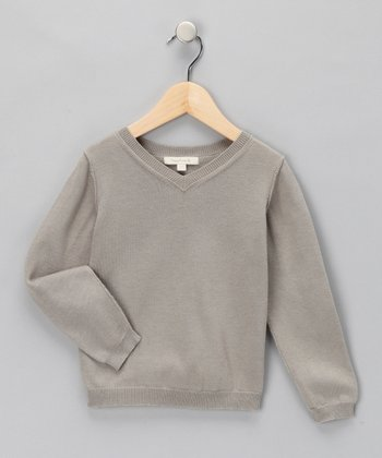 Pearl Gray Christo Merino Wool Sweater - Kids