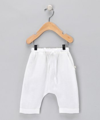 Linen White Coco Pants - Infant
