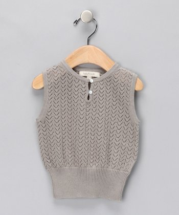 Pearl Gray Elinor Merino Vest - Infant & Kids