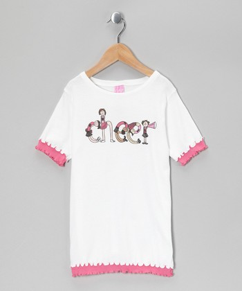Pink 'Cheer' Layered Tee - Girls