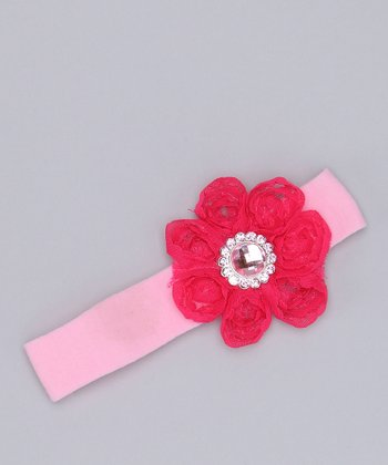 Pink & Fuchsia Gem Flower Headband