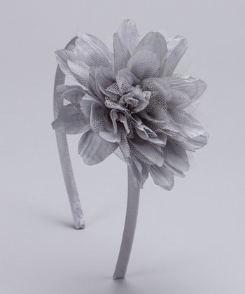 Gray Silk Flower Headband