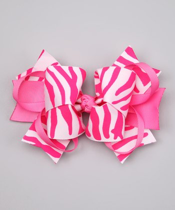 Hot Pink Zebra Sweetie Pie Clip